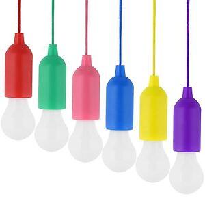 Portable Ampoule Led Lumière Sur Une Corde Lecture Lampe Blanc Batterie Tirette-afficher Le Titre D'origine