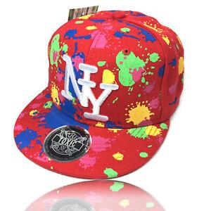 Kinder Cap rot NY NEON POP Snapback Caps Basecap Kappe Baseball ... c54dbb8cac