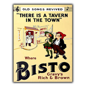METAL SIGN WALL PLAQUE BISTO Gravy Vintage Retro KITCHEN Advert ...