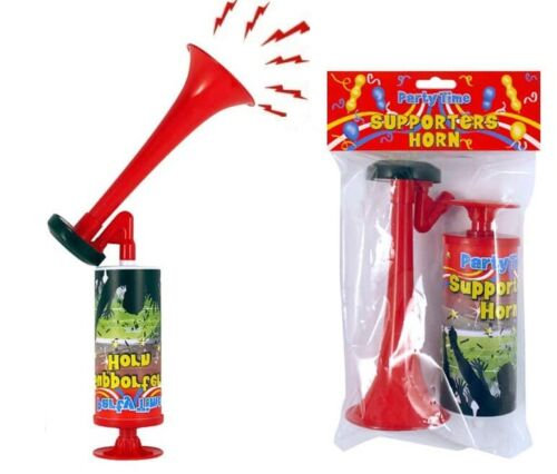 Party Time Supporters Hand Pump Action Air Horn Outdoor  Party Sports Fun Toy