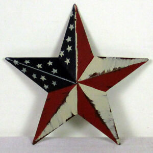 Image Is Loading STAR JULY 4th American Flag BARN Americana