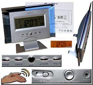 Daniel-KDC8081-Silver-Alarm-Clock-Uhr-Wecker-DEKO-KLATSCH-GERAUSCH-SENSOR-B2
