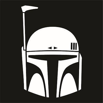 Boba Fett Vinyl Decal / Sticker - Choose Color & Size - Star Wars Madalorian