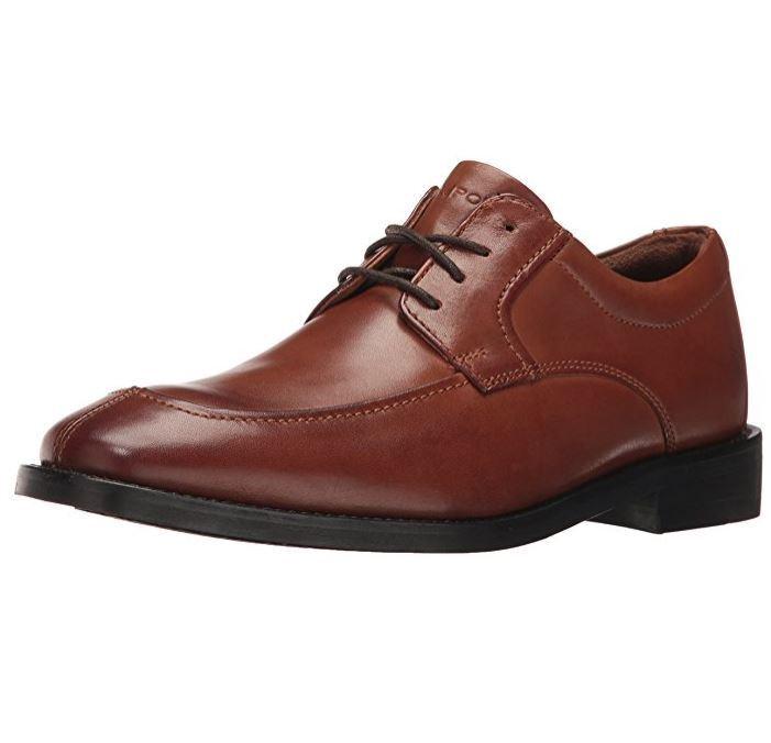 Rockport Men's Smart Cover Algonquin US 10.5 M Cognac Leather Oxfords shoes  160