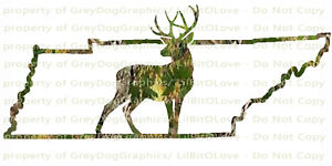 Camouflage-Camo-Tennessee-Full-Stag-Buck-Hunter-Hunting-Vinyl-Decal-Sticker-Deer