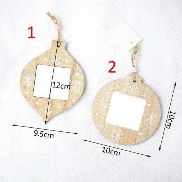 Photo Frame DIY Photo Frame Ball Shape Wood Pendant Party Home Decor