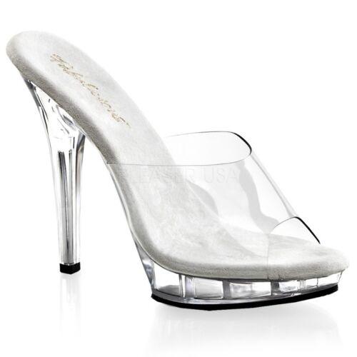 Transparant Mini 101 Pantolette Platform Poledance Tabledance Fabulicious Lip q1xX6Owg