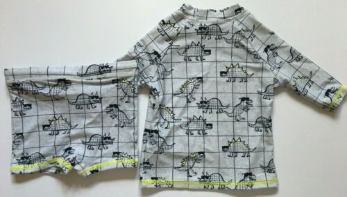 Chlorine Resist 3-6Months /& 9-12Months Boys M/&S Grey Dinosaur Swimwear UPF 50