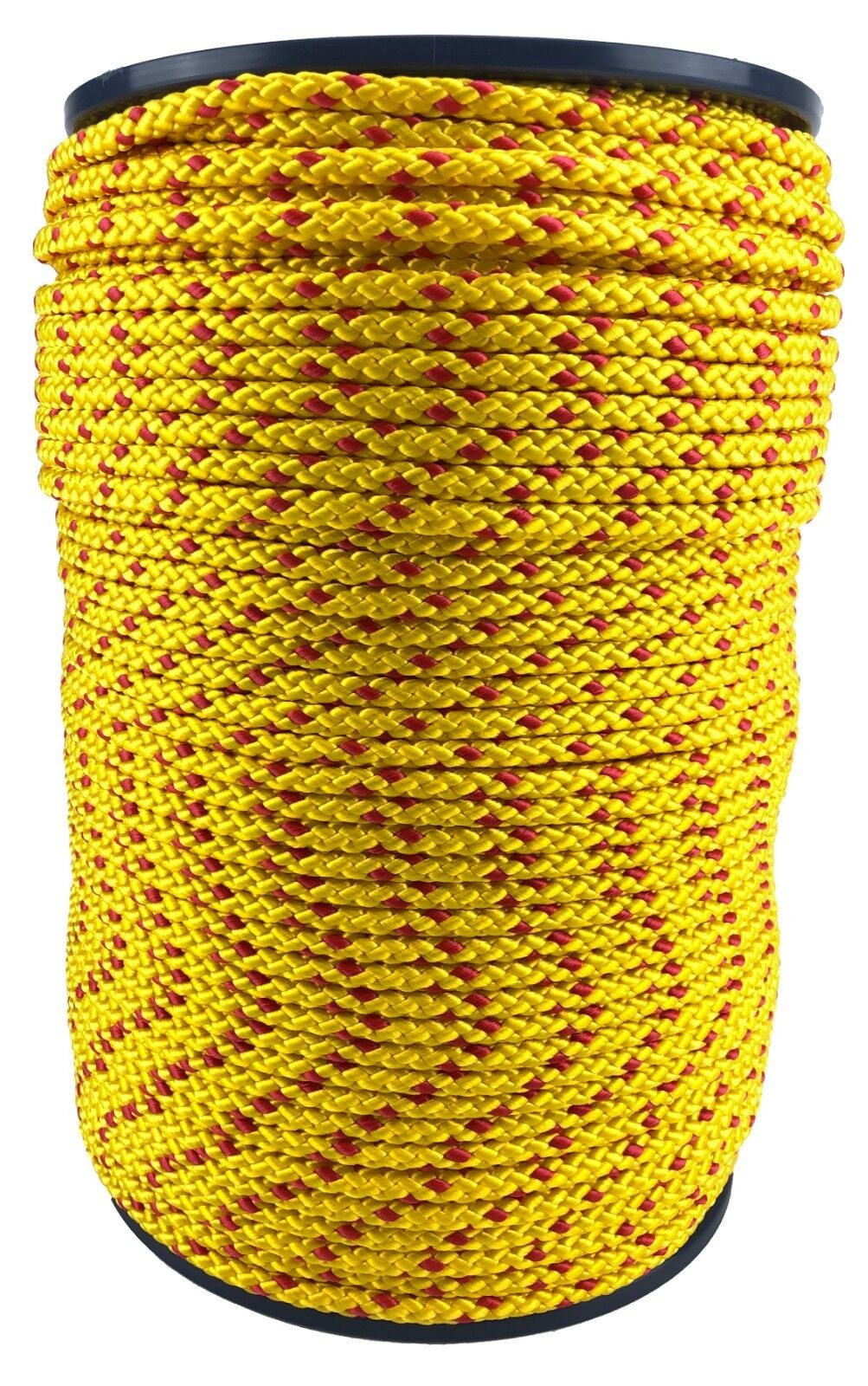 6mm Yellow   Red Polypropylene Braided Poly Rope Cord x 150 Metres Strong String