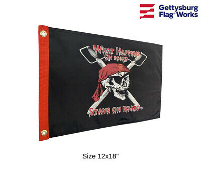 "Pirate for Hire Boat or Residential Flag Sizes 12x18/"" /& 3x5/' All Weather Nylon"