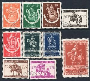 5117 Belgium 1942 Charity Stamps Winter Aid Used Set Ebay