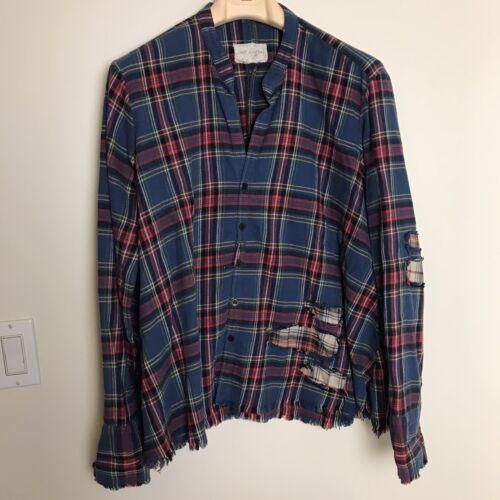 GREG LAUREN Men's Flannel Studio Shirt 4