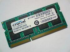 4GB DDR3L-1600 PC3L-12800 1600Mhz CRUCIAL CT51264BF160B.C16FER2 ARBEITSSPEICHER