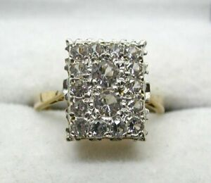 Beautiful-Vintage-9-carat-Gold-And-Spinel-Cluster-Ring-Size-M