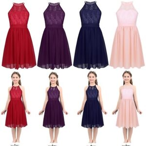 Kids-Flower-Girls-Romper-Dress-Rhinestone-Maxi-Party-Dance-Wedding-Formal-Dress