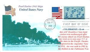Uss-Fenice-CL-46-Cruiser-Pearl-Harbor-1941-Nave-Marchio-Primo-Day-Of-Issue-Pm