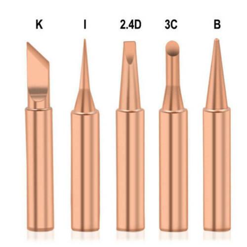 5pcs 900M-T Soldering Iron Tip Pure Copper Lead-free Solder Tip Welding Head MU#