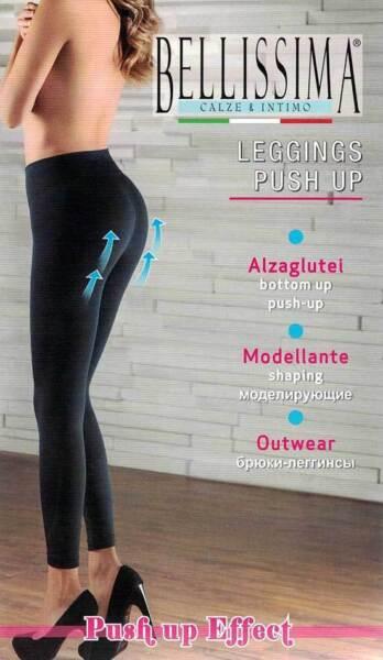 100% De Calidad Leggings Mujer Bellissima De Microfibra,modelado Y Ascensores Nalgas Art Push Up