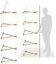 Wooden-3-Sided-Climbing-Frame-Rope-Ladder thumbnail 1