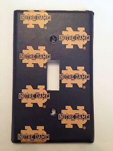 notre dame fighting irish light switch covers football