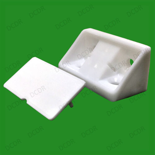 2x White Plastic Mini Corner Cabinet Connector Brace Bracket Support
