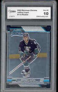 2003-Joffrey-Lupul-Bowman-Chrome-rookie-Gem-Mint-10-112