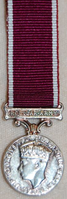 Geo VI-Army LSGC (Regular Army) MINIATURE MEDAL