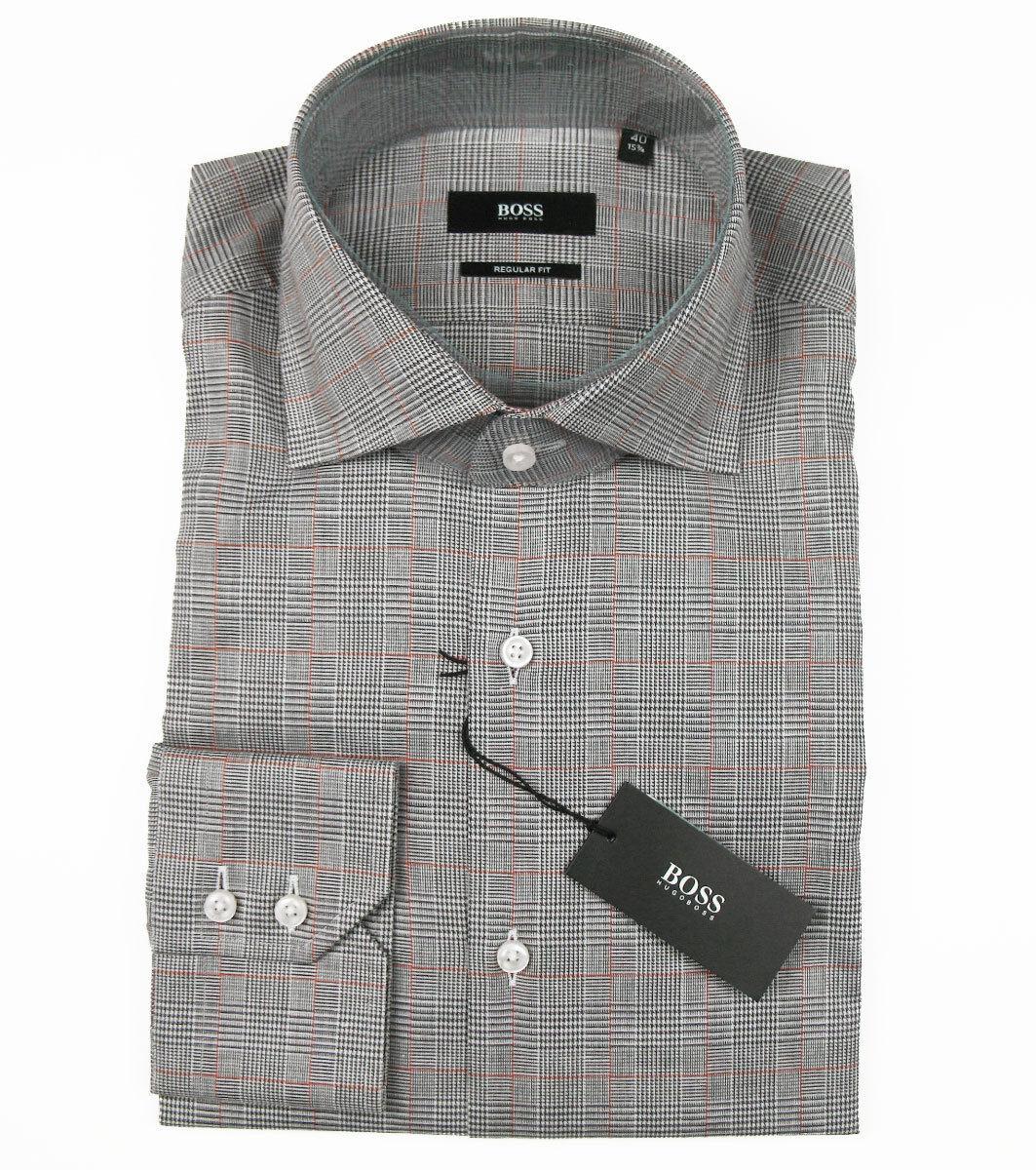Boss nero Camicia di affari Gerald in 40 (regular fit) Marronee ItaliaItaliano