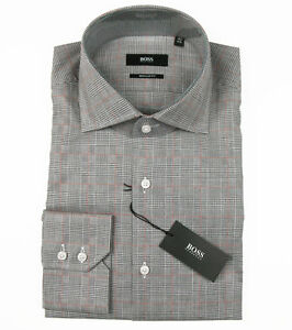 06c5a3f24 BOSS BLACK Business shirt GERALD in 40 ( Regular Fit ) brown Italian ...