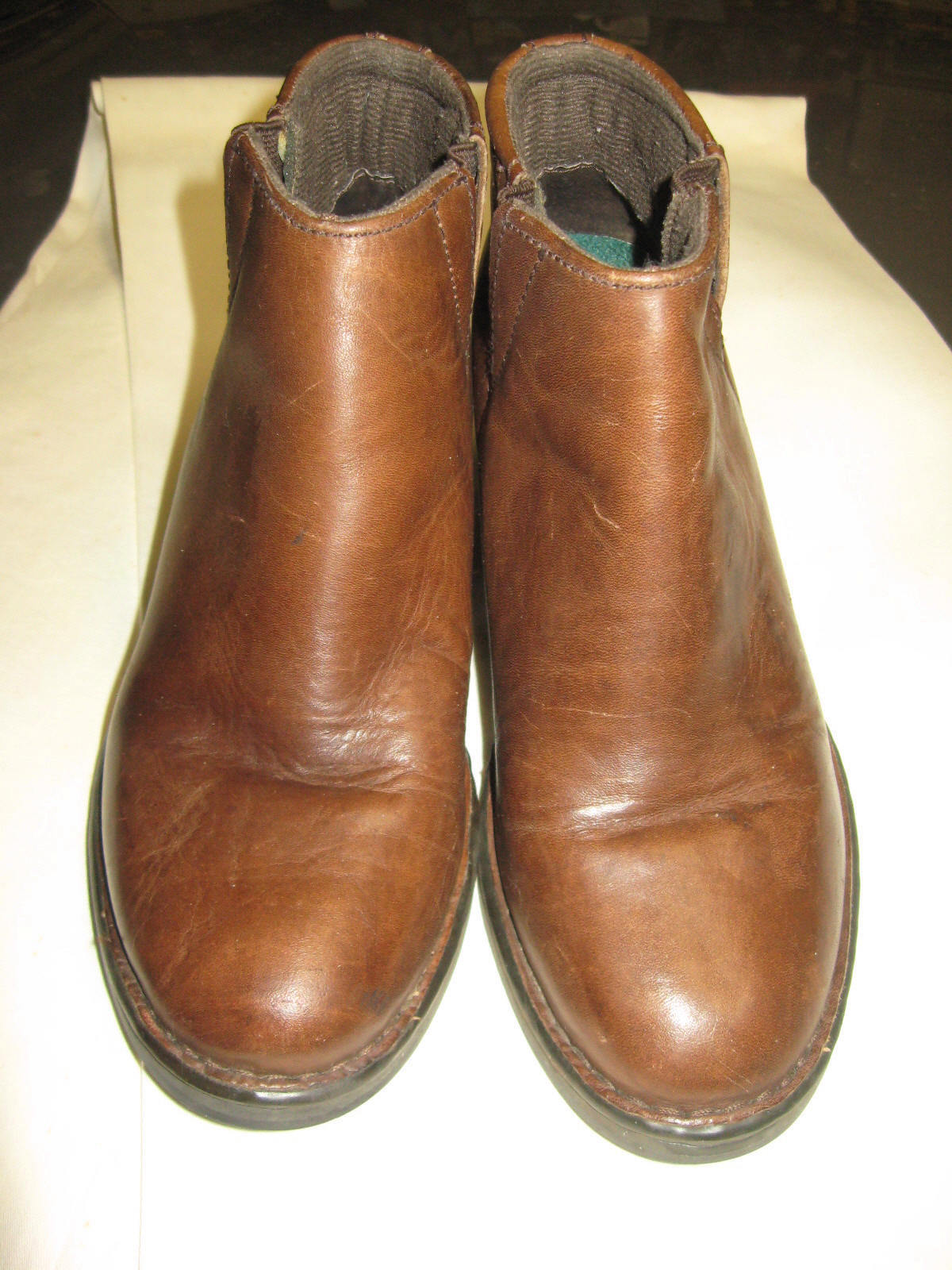 L@@K  Awesome Double H Woman's  Brown Boots  6-1 2M Stacked Heel  1017 VFine  HH