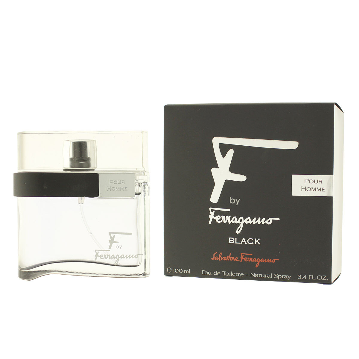 profumi: Salvatore Ferragamo F By Ferragamo Black Eau De Toilette EDT 100 ML (Uomo)