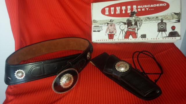 Hunter Buscadero Holster Set  -  New and Original- Crockett and Kelley Buckle