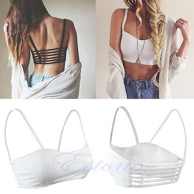 Women Girls Sexy Padded Bra Crop Tops Sport Vest Summer Beach Tank Tops
