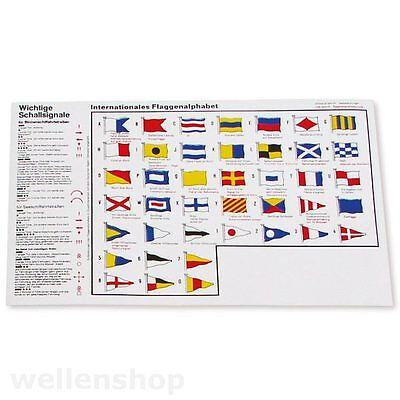 Aufkleber Flaggenalphabet & Schallsignale