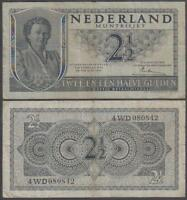 1949 Nederland Muntbiljet Netherlands 2 1/2 Gulden