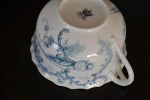 ROYAL CAULDON BONE CHINA /'/'MARLBOROUGH/'/' BLUE CUP AND SAUCER SET