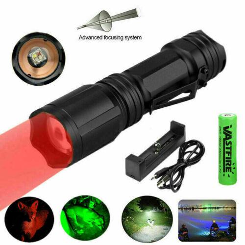 Taktisch Jagd Taschenlampe Zoom 4 Farbe in 1 Grün Rot Weiß Blau 3AAA oder Licht