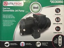 Utilitech ut3121 05 hp cast iron deep well jet pump water pumps item 5 utilitech 12 hp cast iron deep well jet pump model ut3121 new lowes 0036860 utilitech 12 hp cast iron deep well jet pump model ut3121 new ccuart
