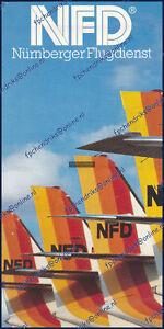 NFD NURNBERGER FLUGDIENST SWEARINGEN METRO BROCHURE - GERMAN 8 PAGES 1985 MINT