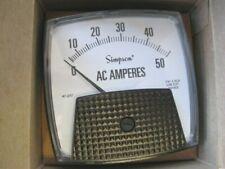 Simpson 47217 Mdl B350 Electric Analog Panel Meter 0 50 Vac Big Vue Series