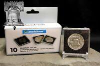 10 ✯ Liberty Dollar 1/2oz Coin Snaplock 2x2 Capsule 32mm Lighthouse Quadrum