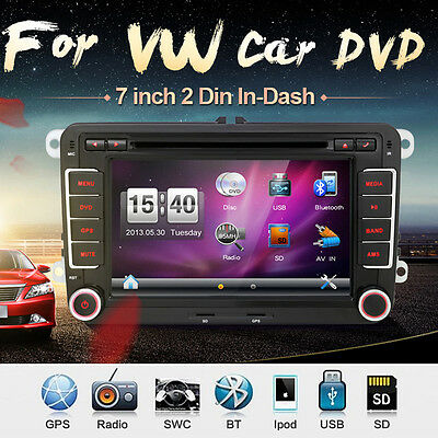 "7"" car stereo gps navigation sat nav dvd player for vw passat golf 5"