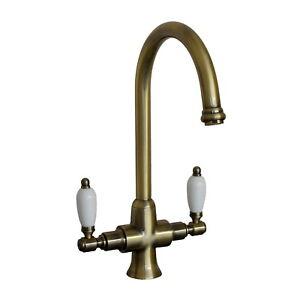 ENKI-Kitchen-Sink-Mixer-Tap-Lever-Dual-Flow-Antique-Bronze-DORCHESTER