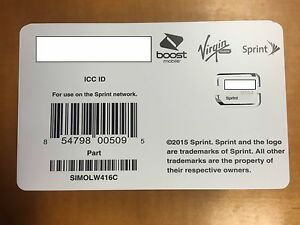 sprint sim card iphone 5 sprint sim card simolw416c uicc 854798005095 ebay 18033