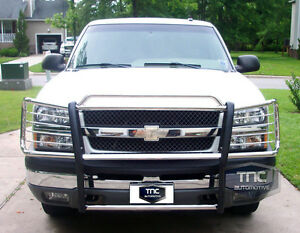 2003-2006-Chevy-Avalanche-1500-NO-CLADDING-Brush-Grill-Guard-Stainless-Steel