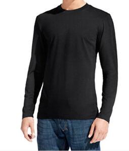 9af45c0eb311e T-shirt uni homme manches longues FRUIT OF THE LOOM COULEUR NOIR | eBay