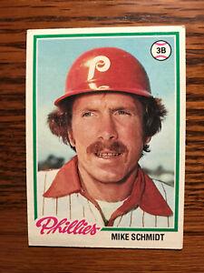 1978 Topps #360 Mike Schmidt Baseball Card Philadelphia Phillies HOF Raw