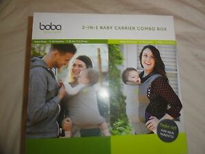 Boba 4g Baby Toddler Carrier Wrap Combo 0 48 Months 7 45 Lbs