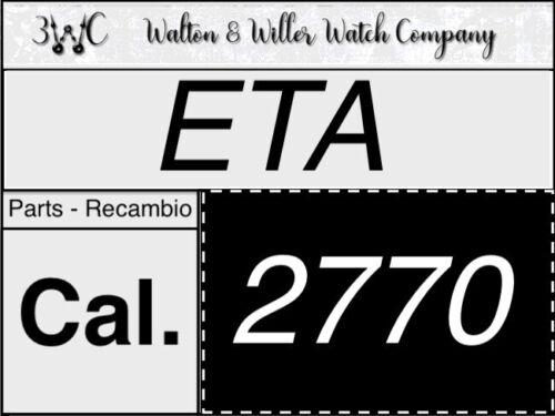 1 PC Eta 2770 Original Parts Genuine Replacement New NOS 2770 Vintage 3WC