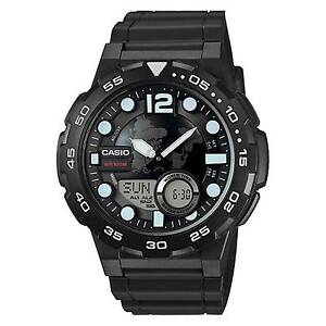 ef2c4df7705 Casio Aeq-100w-1a Mens Black 100m World Time Digital Watch Analog Sports